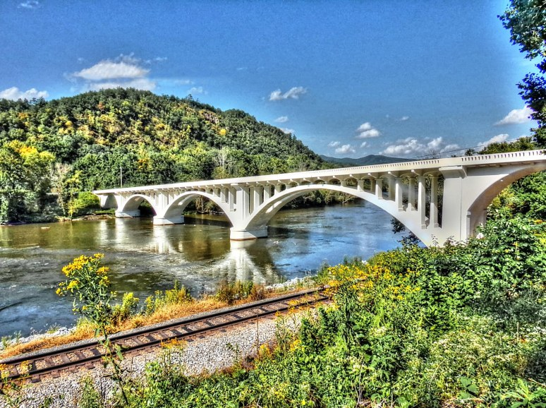 Wolf Creek Bridge over the French Broad River