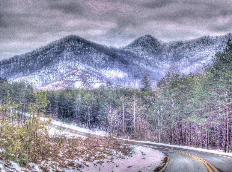 Hemphill Road in Winter