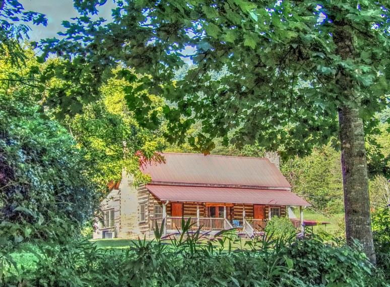Ham Creek Log Cabin Summer
