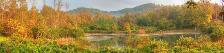Otter Pond Panoramic in Fall