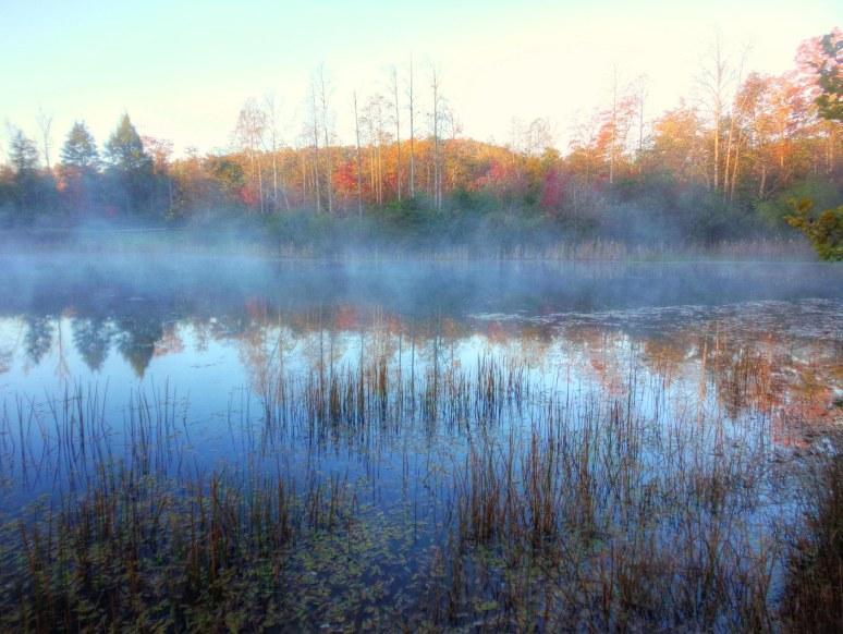 Otter Pond at autumn sunrise