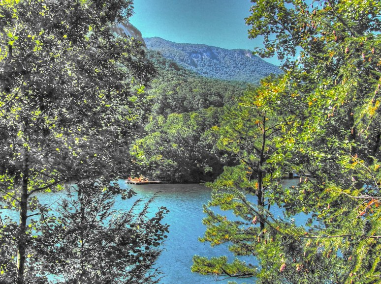 Mount Shumont over Lake Lure