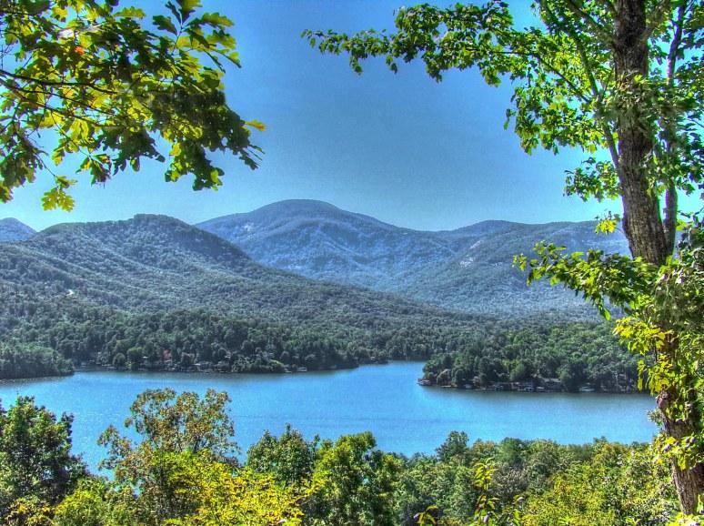 Sugarloaf Mountain over Lake Lure 1