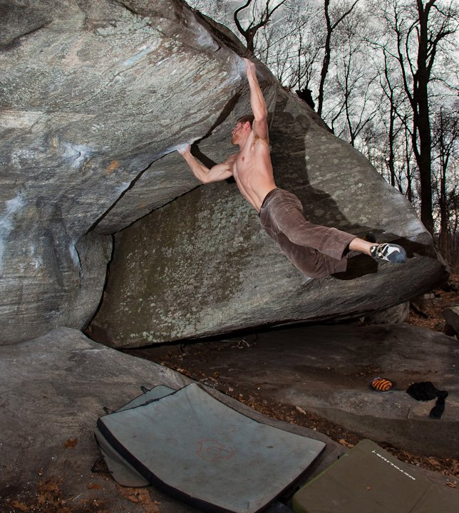 Bouldering at Rumbling Bald