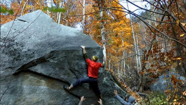 Bouldering at Rumbling Bald Field