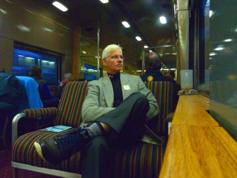 Vintage excursion train window
