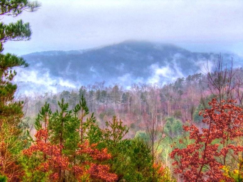 Roan Horsetop in Clouds