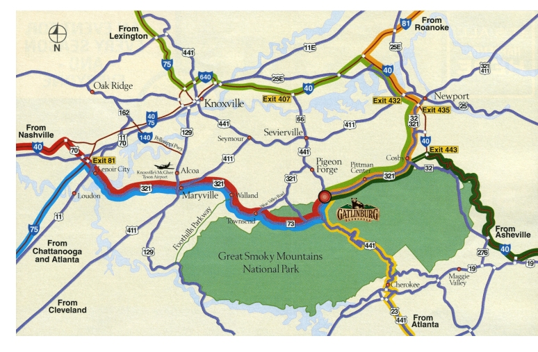 Alternate Routes to Gatlinburg