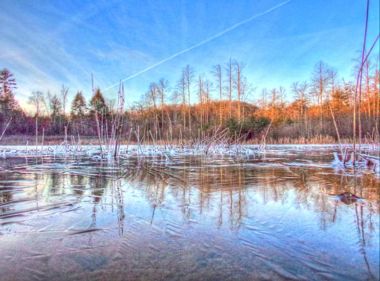 Otter Pond Ice Contrails