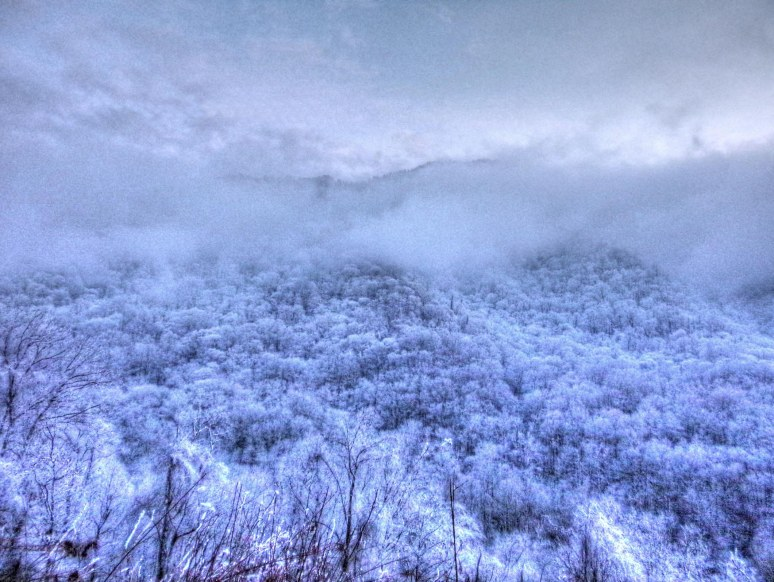 Great Smokies Snow Clouds