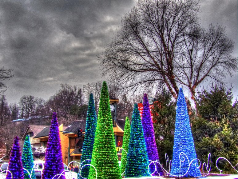 Gatlinburg Christmas Lights and Trees