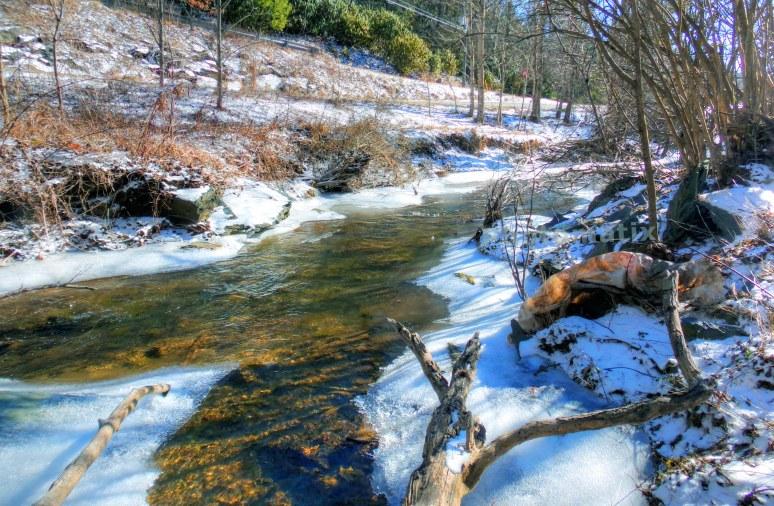 Linville River in Winter