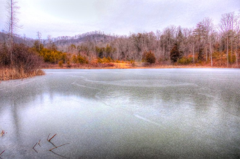Otter Pond Under Ice