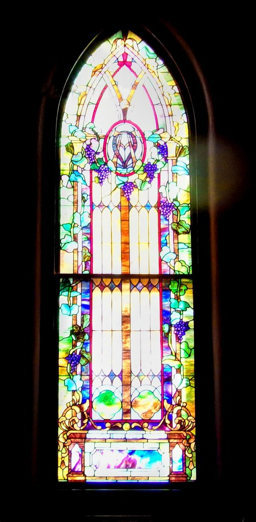 Shelby Baptist Grape Tiffany Window