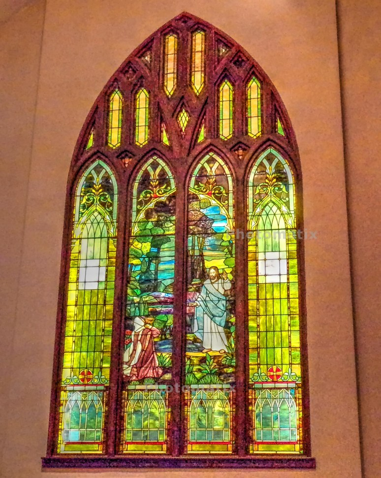 Shelby Baptist Hidden Tiffany Window