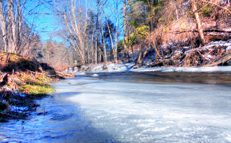 Linville River Ice Sheet