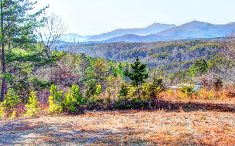 Lake Lure Mountains in Winter