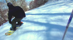 Snow Boarder in Black