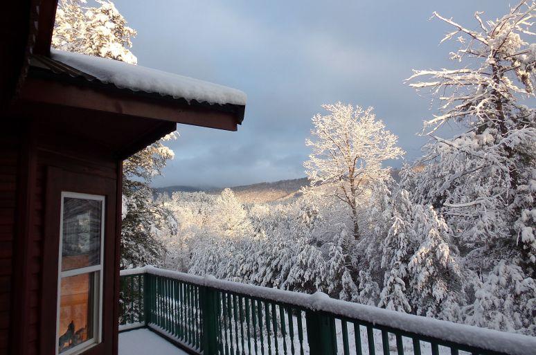Hemlock House Deck View