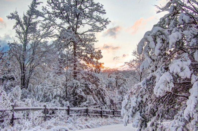 Otter Creek Valley Sunrise Snow