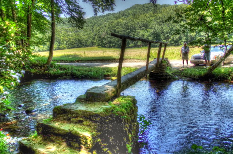 Cataloochee Valley Walk Bridge