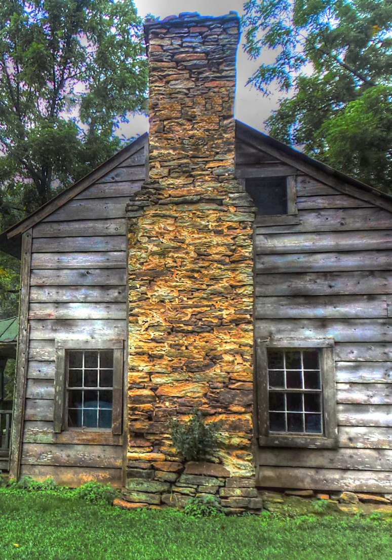 Appalachian farmhouse chimney