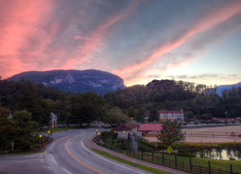 Chimney Rock Mtn sunset