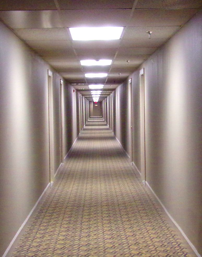 "The 300 yard long hallways reminded me of the movie, ""The Shining"""