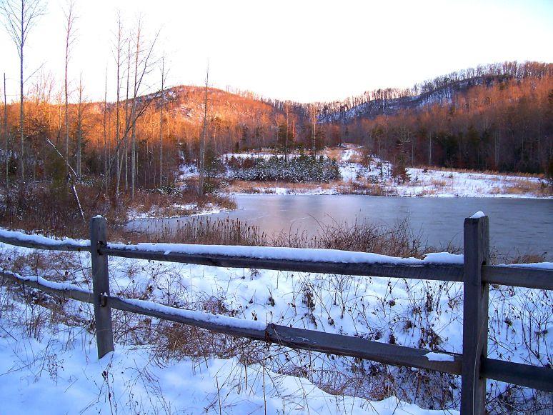 Frozen Otter Pond in Snow
