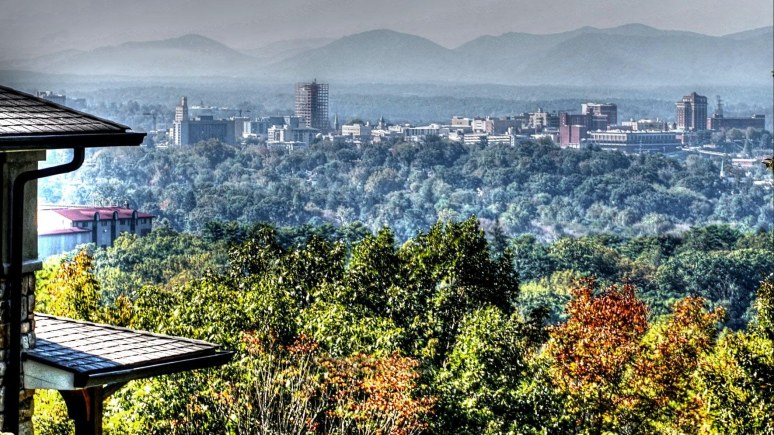 asheville from Sunset Road