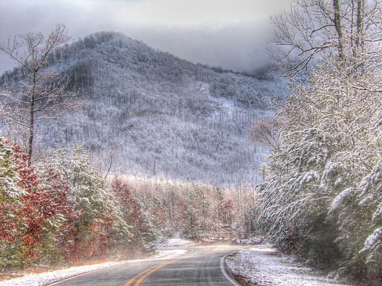 Pinnacle  Mountain after March snowfall