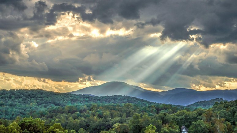 Sun Rays over Sugarloaf Mountain
