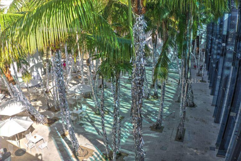 Miami courtyard Design District