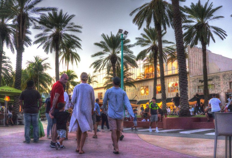 lincoln road mall sunset