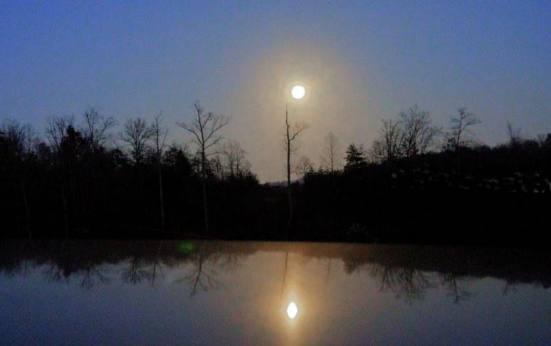 Otter Pond full moon
