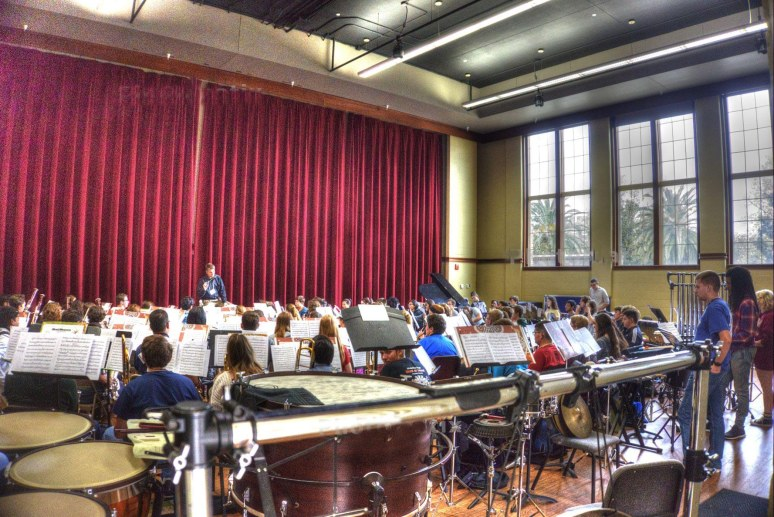 FSU symphony rehearsal