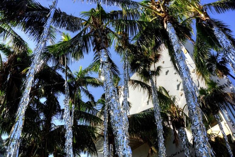 Miami Design District holiday tinsel