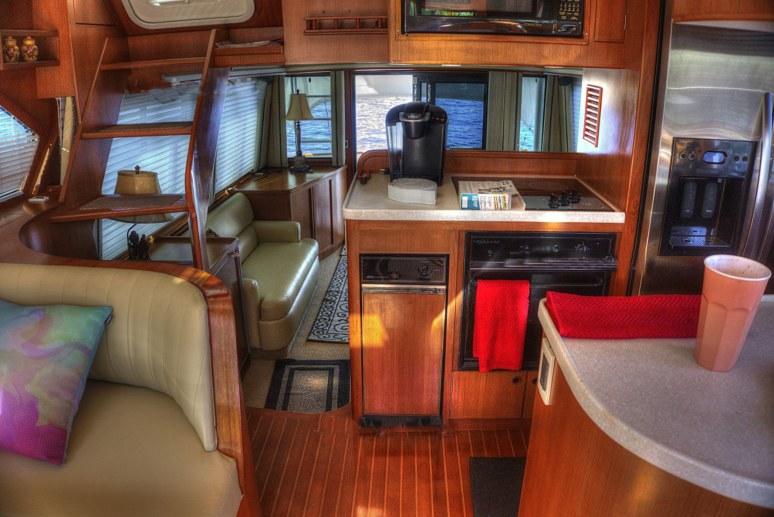 stateroom of cruising yacht