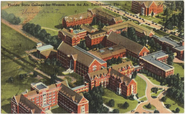 728px-Florida_State_College_for_Women_from_the_air,_Tallahassee,_Fla.